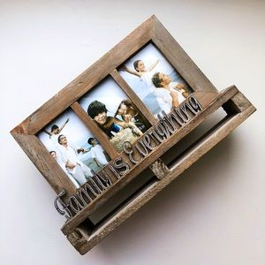Grey Multi Picture Distressed Wall Hanging Frame